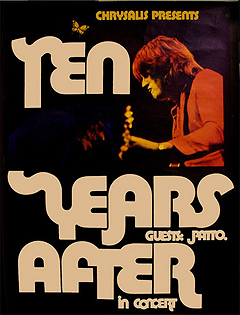 Ten Years After tour poster 1972